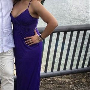 Worn Once David's Bridal Purple Strappy Maxi